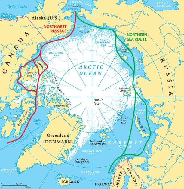 Russian arctic tourism routes