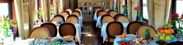 Restaurant in the Trans-Siberian Train
