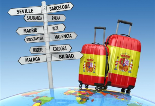 SPANISH TOURISM SIGHTS WELCOMED 1 MILLION MORE FOREIGN TOURISTS