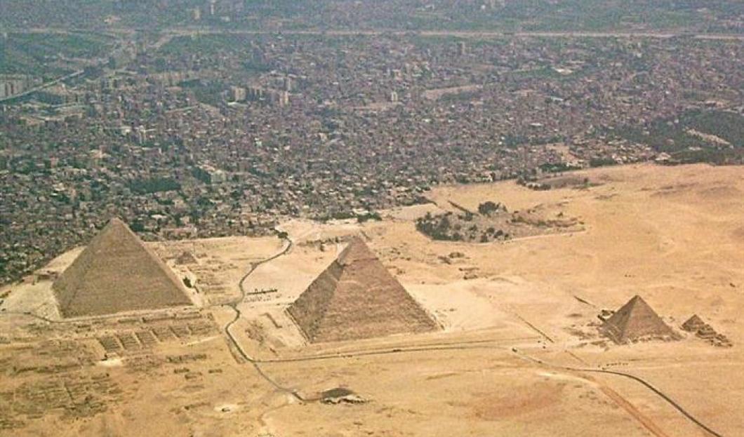 Pyramids at the Giza Necropolis, Egypt