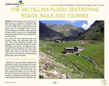 The Valtellina Flood: Destroying Roads, Rails and Tourism
