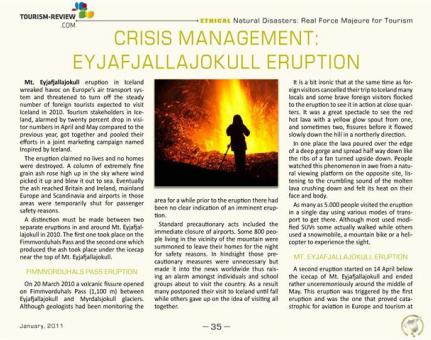 Crisis Management: Eyjafjallajokull Eruption