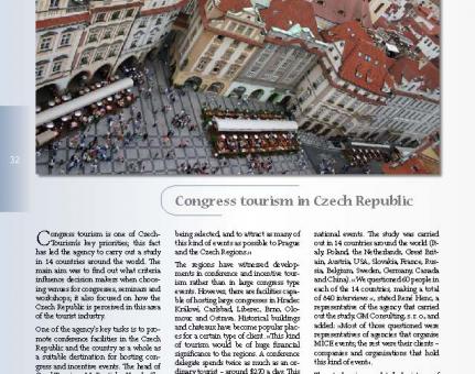Congress tourism in Czech Republic