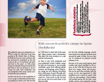KIDS SOCCER & ACTIVITY CAMPS IN SPAIN (ANDALUCIA)
