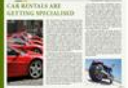 Car Rentals Are Getting Specialised