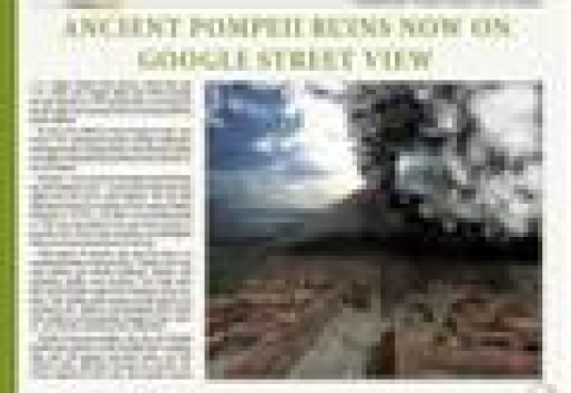 Ancient Pompeii Ruins Now on Google Street View