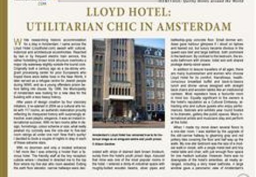 Lloyd Hotel: Utilitarian Chic in Amsterdam