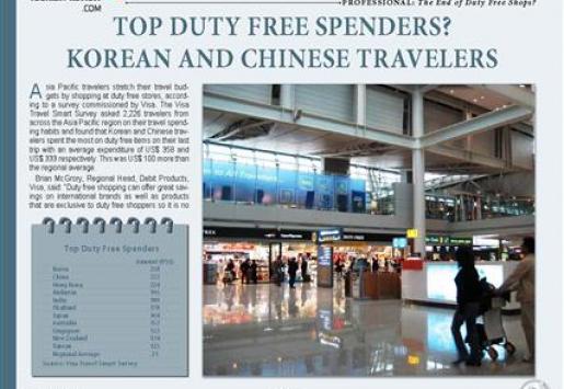 Top Duty Free Spenders? Korean and Chinese Travelers