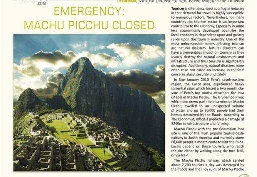 Emergency: Machu Picchu Closed