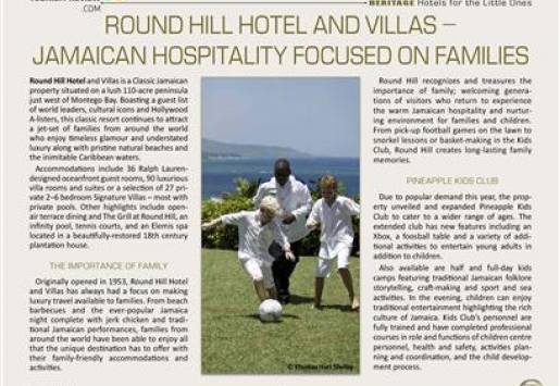 Round Hill Hotel and Villas – Jamaican Hospitality Focused on Families