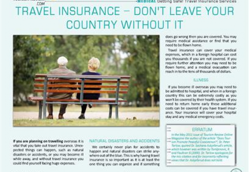 Travel Insurance – Don't Leave Your Country without It