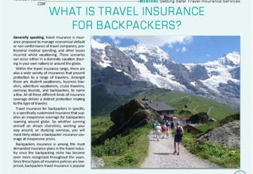 What Is Travel Insurance for Backpackers?