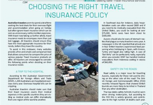 Choosing the Right Travel Insurance Policy