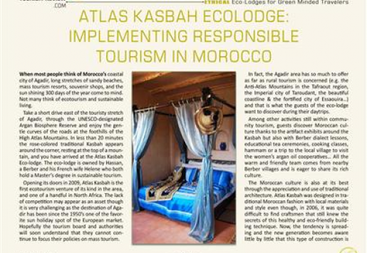 Atlas Kasbah Ecolodge: Implementing Responsible Tourism in Morocco