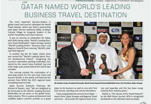 Qatar Named World's Leading Business Travel Destination