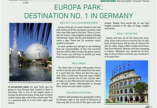 Europa Park: Destination No. 1 in Germany