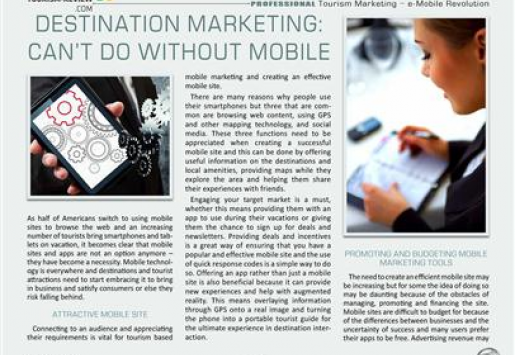 Destination Marketing: Can't Do without Mobile
