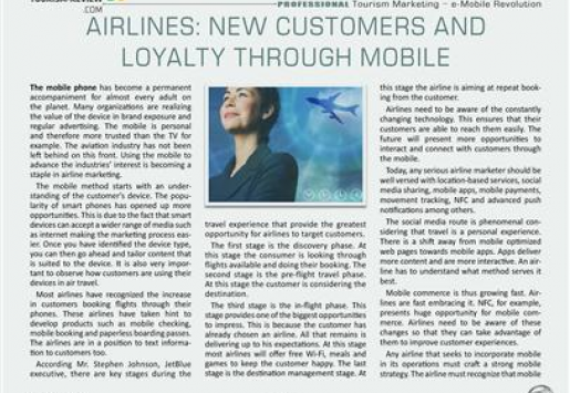 Airlines: New Customers and Loyalty through Mobile