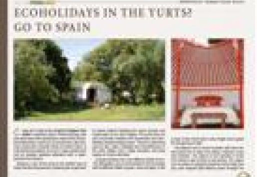 Ecoholidays in the Yurts? Go to Spain