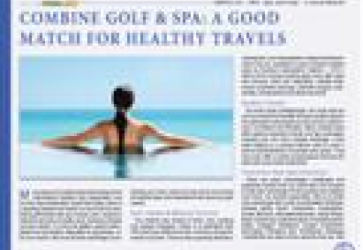 Combine Golf and Spa: A Good Match For Healthy Travels
