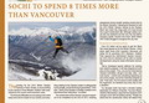 Sochi to Spend 8 Times More Than Vancouver